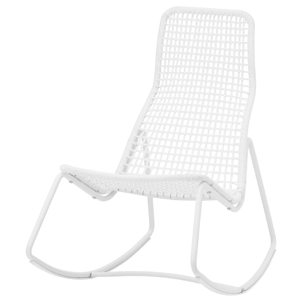 GUBBÖN Rocking chair, in/outdoor, white IKEA in 2020