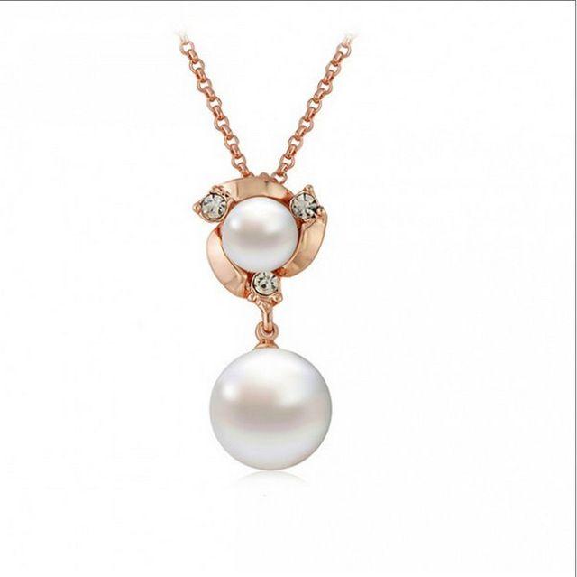 Photo of Sale Freshwater Imitation Pearl Earrings Rose Goldcolor Earr…
