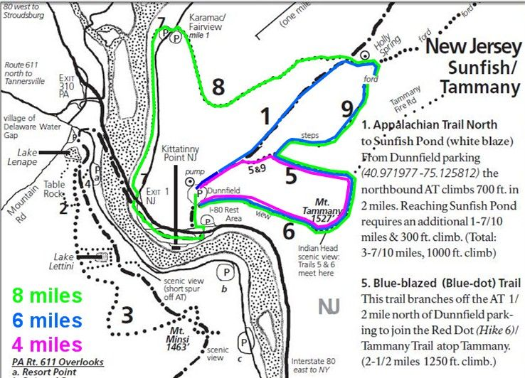 ABOUT THE PARK Hiking Mount Tammany National Park Service TRAIL