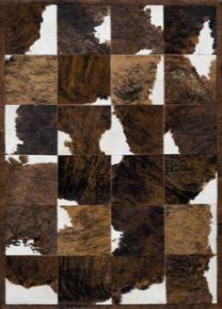 Tappeto moderno / a quadretti / in pelle di mucca ...