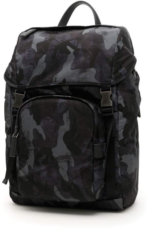 b0126d0f9281 Prada Character Nylon Backpack