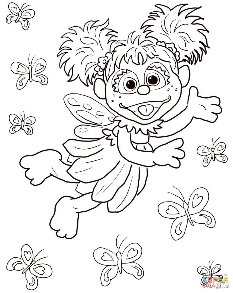 Abby Cadabby Sesame Street Coloring Pages   Sign