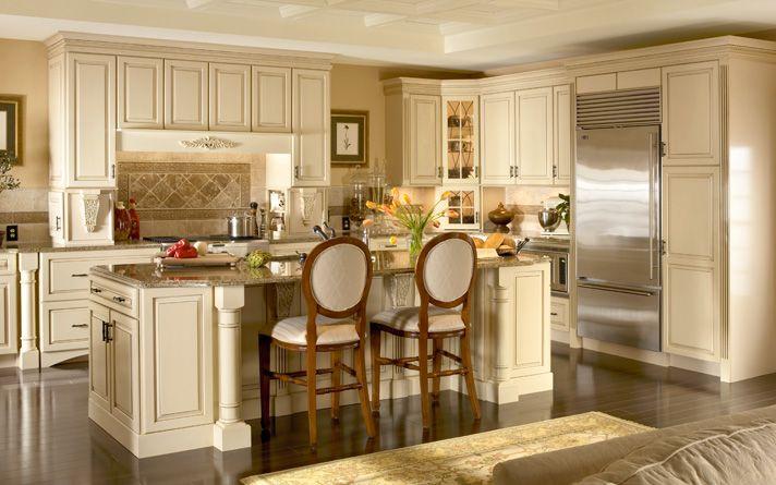 Best Kraftmaid Dove White Hartwell Cabinets Kitchen Remodel 400 x 300