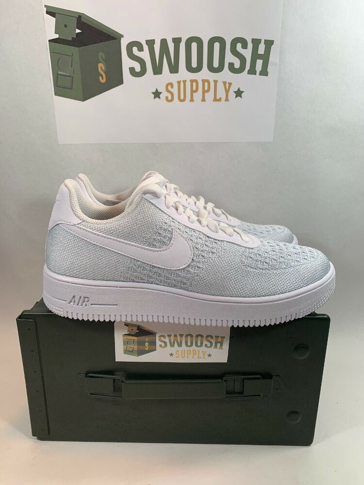 Nike air force 1 flyknit 2 0 casual shoes white pure