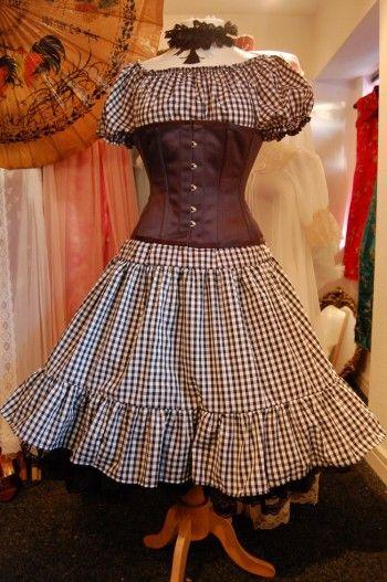 VV BELLE STARR - Plus Size Gingham Dress Prairie Barn ...