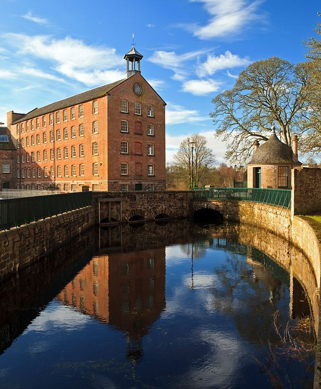 By Cristina - Stanley Mills, Perthshire, Scotland. Built in 1786 at a hairpin bend in the River Tay, it produced linen made from locally grown flax. #history #Scotland