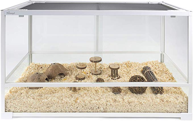 Amazon Com Niteangel Glass Pet Cage For Hamsters Gerbils Mice