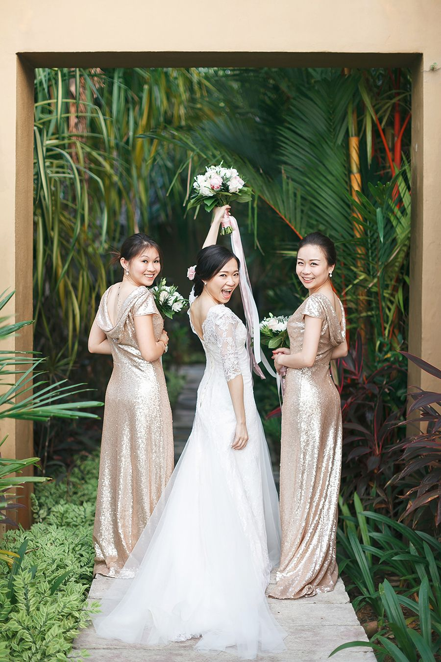 50th wedding anniversary dresses  Charlie and Cherlynus Wedding in Four Seasons Langkawi  Bridesmaids
