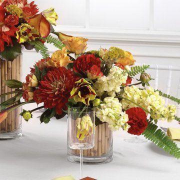 Tropical Wedding Reception Centerpieces | Bamboo Floral Centerpieces