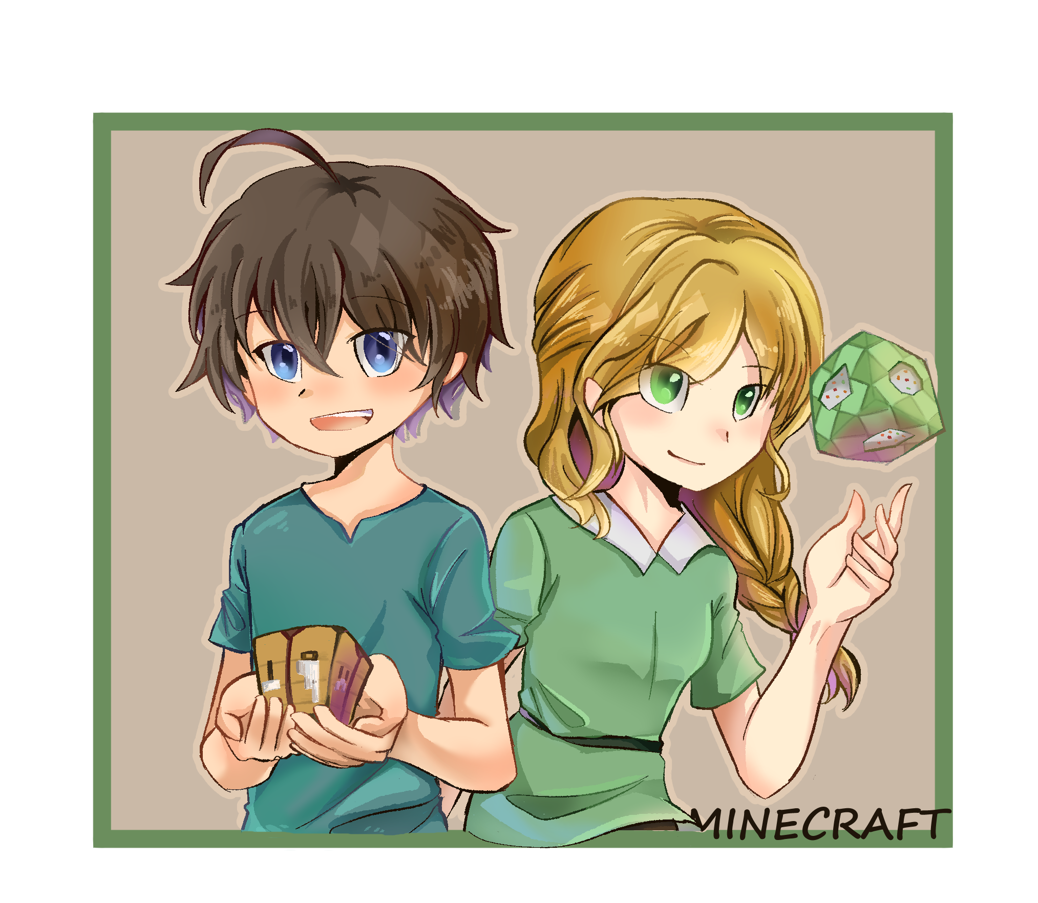 Steve And Alex Minecraft In 2020 Minecraft Anime Minecraft Fan Art Minecraft Art