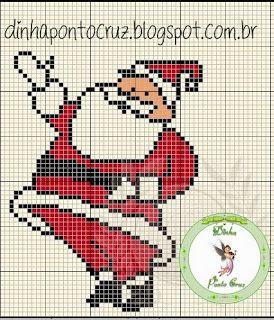 Santa Claus pattern - Dinha Ponto Cruz
