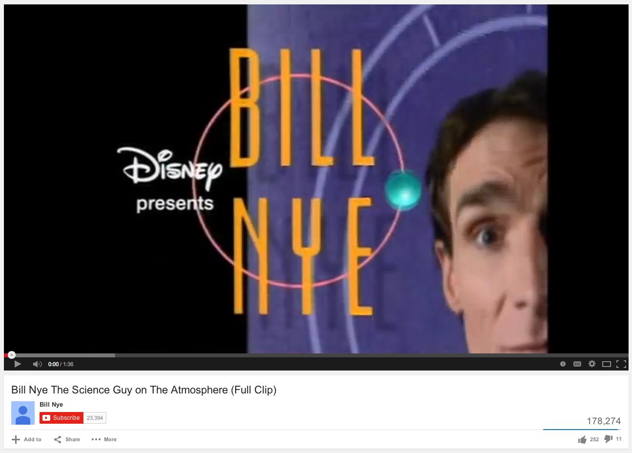 Bill Nye Atmosphere Video Fifthgrade Science
