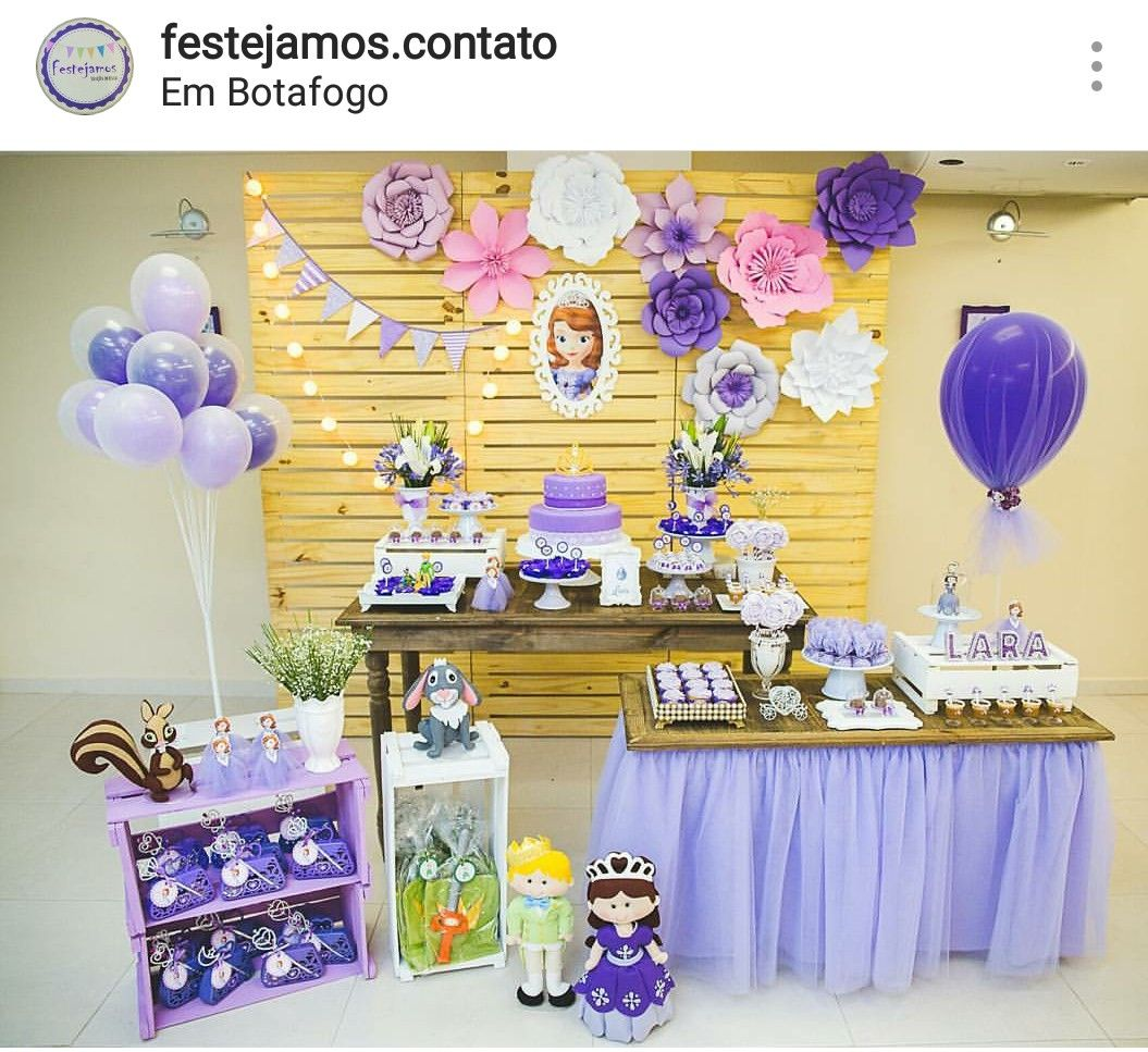 Sofia The First Birthday Party Dessert Table And Decor
