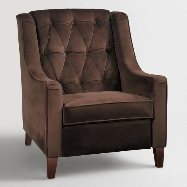 Chocolate Victoria Velvet Tufted High Back Chair   WOW! Love It! Check It