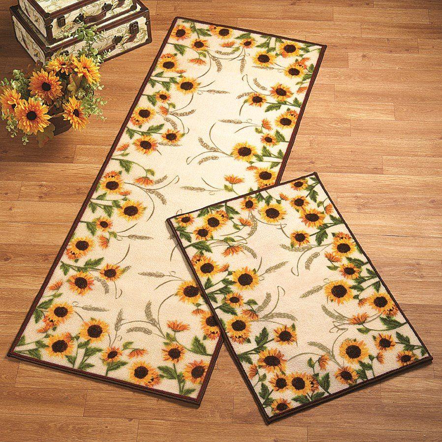 Sunflower Clm1410032n Runner Carpet Sunflower Kitchen Sunflower Kitchen Decor Sunflower Themed Kitchen