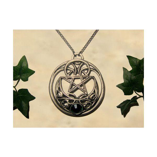 Celtic moon pendant jewelry handmade medieval necklace with celtic moon pendant jewelry handmade medieval necklace with swarovski 92 pln liked on aloadofball Choice Image