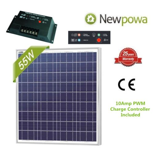 Newpowa 75w Watt 12v Solar Panel Pwm 10a Charge Controller 6ft Extension Cable 6947398958350 Ebay 12v Solar Panel Solar Panels Solar