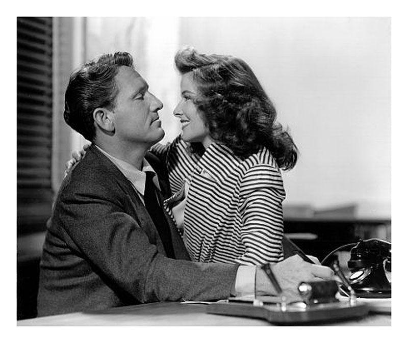 "Katharine Hepburn y Spencer Tracy en ""La Mujer del Año"" (Woman of the Year), 1942"