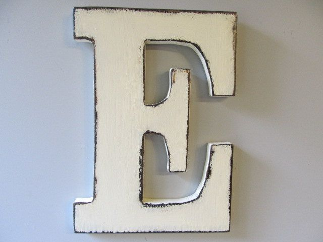 Custom Made Large Wooden Letters Rustic Shabby Chic 12 Letter E