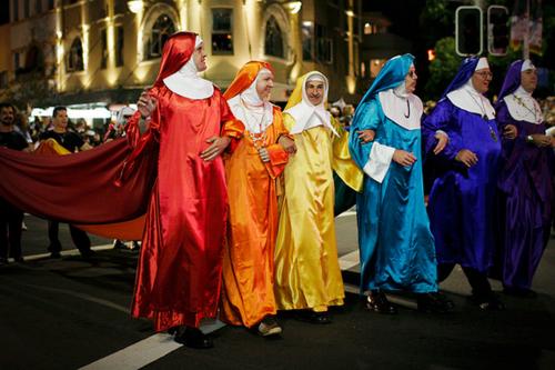 Image result for mardi gras nuns priests