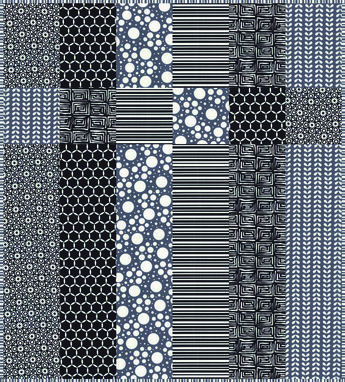 """Little Black Quilt"" FREE quilt pattern by Barb and Mary at ""Me and My Sister"" designs blog and store ...would make a great quilt back!"
