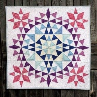 Mandala Mil colores By Mercedes Ortiz is part of Quilts, Mandala, Art quilts, Barn quilts, Quilt blocks, Quilters - Una mandala rodeada de color, alegría y paz