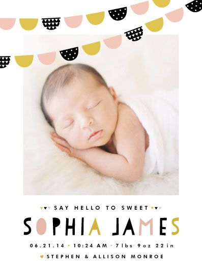 Baby Bunting Banner Birth Announcement By Pistols Auntie Lys - Baby arrival announcement