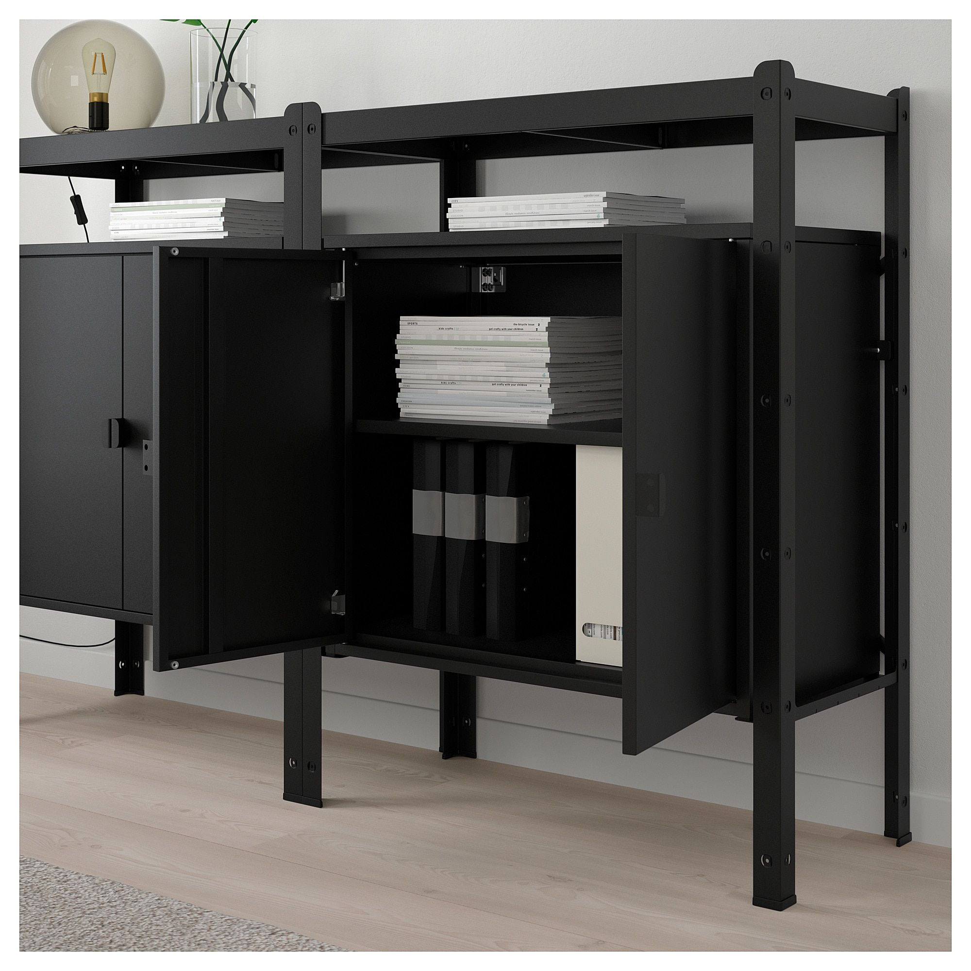 wholesale dealer 996ab b112d BROR Shelving unit with cabinets - black | Office Design in ...