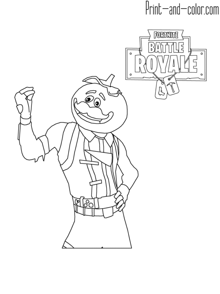 Fortnite Battle Royale Coloring Page Tomatohead Rares 238 N