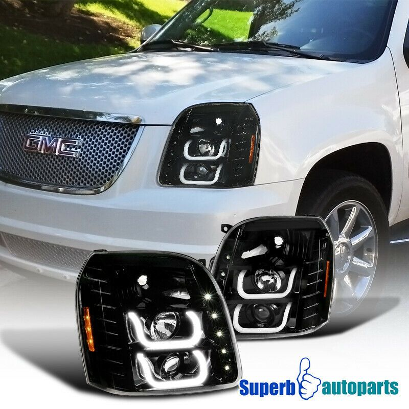 Ad Ebay 07 14 Gmc Yukon Denali Xl Clear Halo Projector Headlights