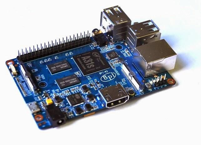Banana Pi M2 With A31S Quad Core, SATA, WIFI and 1GHz Ethernet