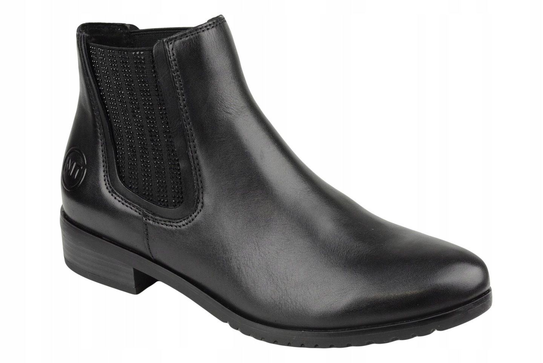 Marco Tozzi Sztyblety Czarne Lico 25384 21 39 7523260538 Oficjalne Archiwum Allegro Chelsea Boots Boots Ankle Boot
