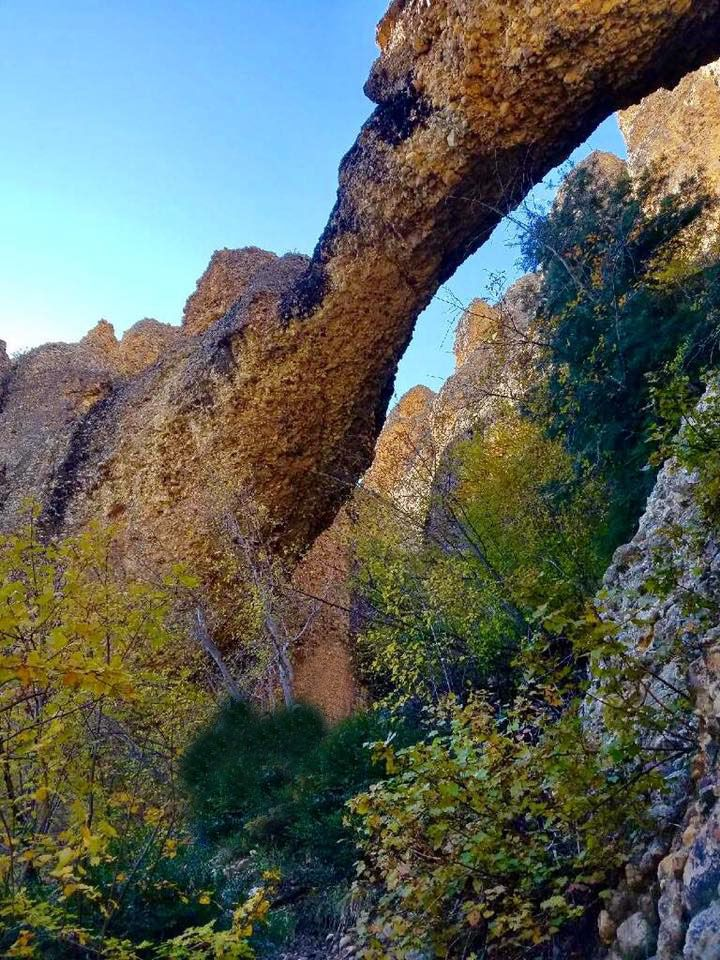 arch on the Middle Fork trail in Maple Canyon 10082017