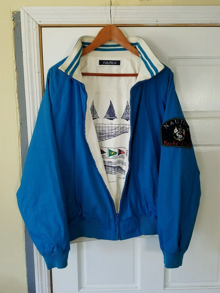 Rare Vintage 90 S Sailing Yacht Nautica Competition Jacket Men S Size Large Everyday Outfits Retro Outfits Yacht Fashion