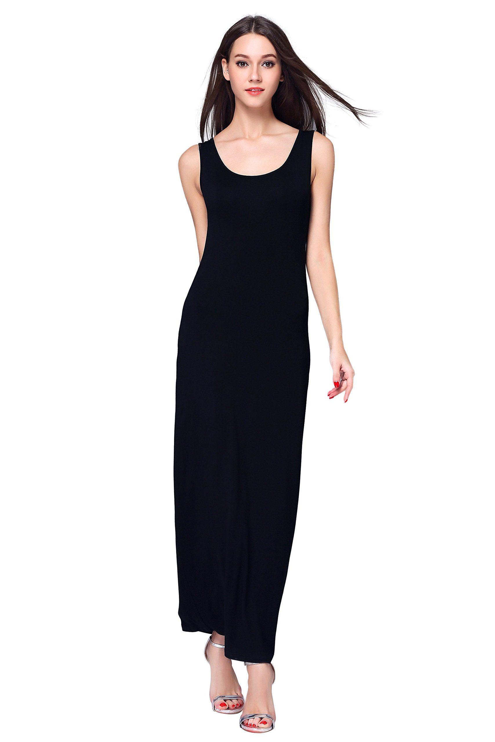 Hika Womens Fashion Sleeveless Casual Long Maxi Tank Dress Xlarge Black Want Additiona Long Black Maxi Dress Women Dress Collection Sleeveless Dresses Casual [ 2560 x 1707 Pixel ]