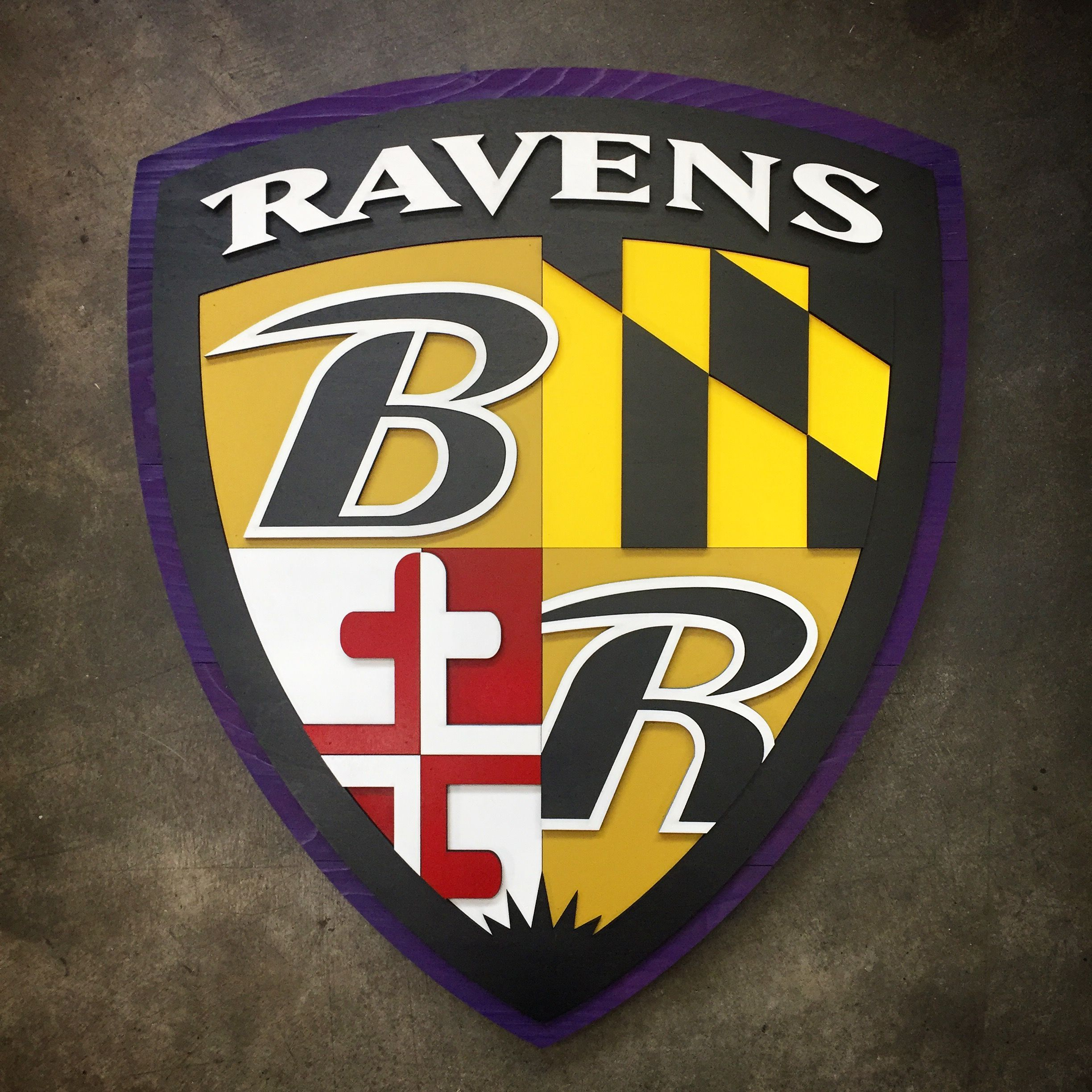 Baltimore Ravens Shield 3D Wood Wall Art. Perfect for home or office ...