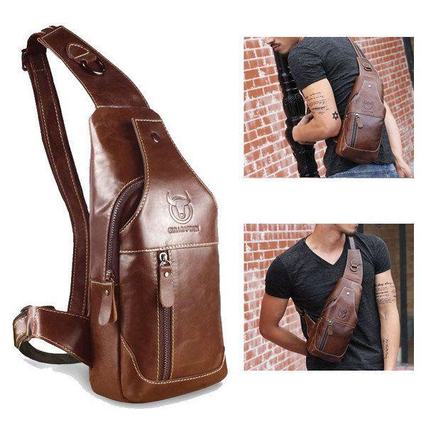 6bc6282bd Hombres de cuero genuino de negocios de bolsos casuales de hombro bolsa de  Crossbody Hombro de hombres de cuero genuino de negocios casuales de bolsos  de ...