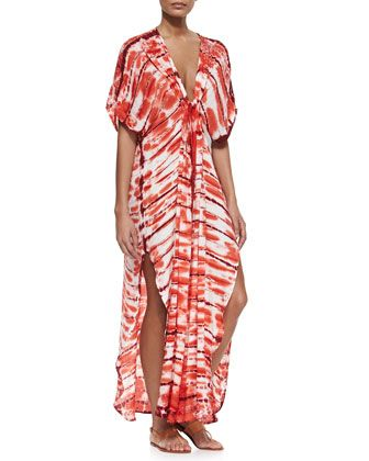 Shorebreak Wash Caftan with V Neckline by Young Fabulous and Broke at Neiman Marcus.