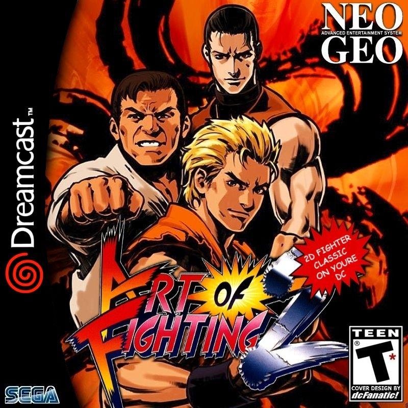 Art Of Fighting 2 Custom Sega Dreamcast Game Free Shipping Neo