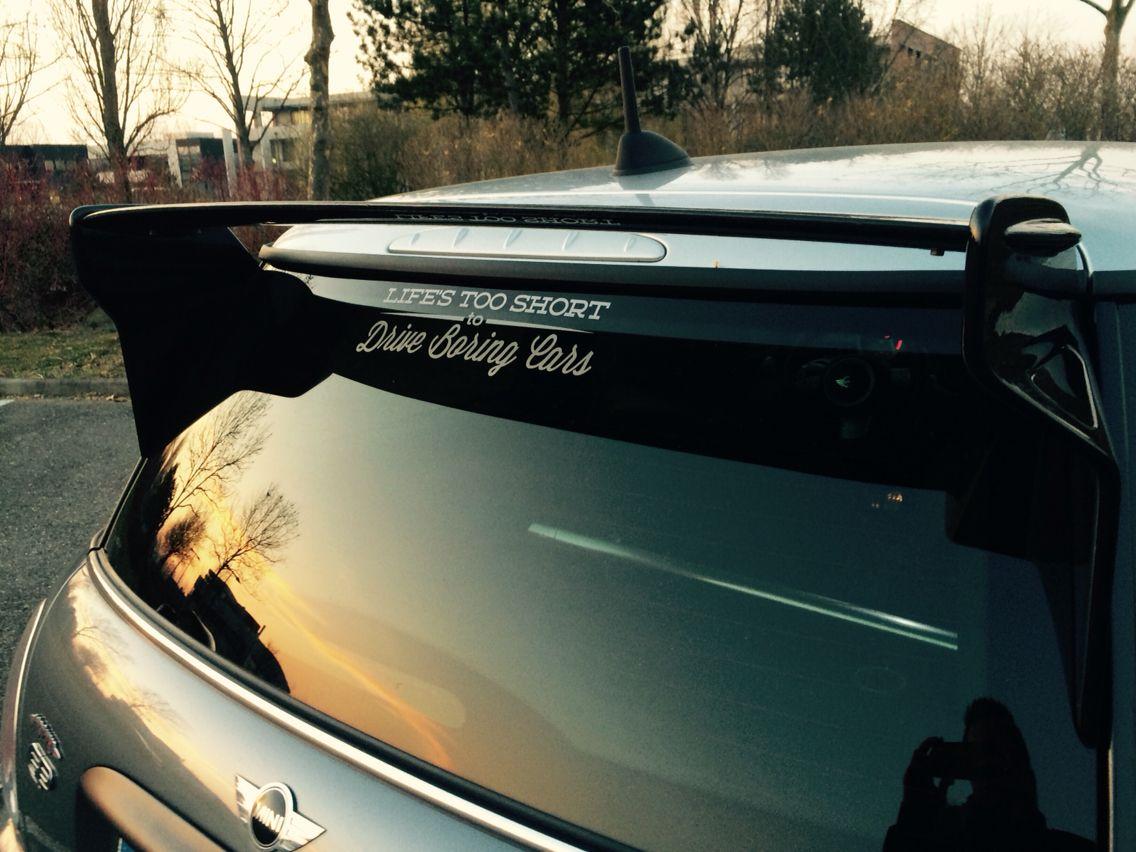 Car sticker design selangor - Life S Too Short To Drive Boring Cars Sticker Mini Gp