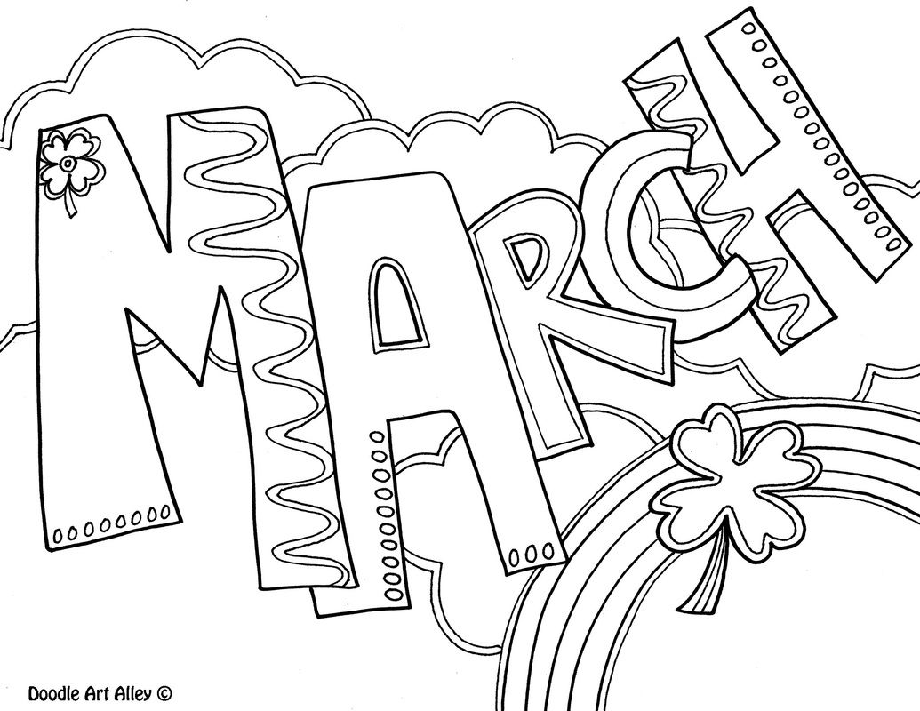 Months Of The Year Coloring Pages Spring Coloring Pages Printable Coloring Pages