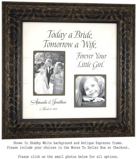 Custom Wedding Frame, Parents Wedding Gifts, Bride, Groom, TODAY A ...