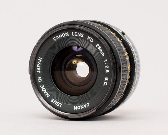 Canon 28mm F 2 8 Fd Lens Etsy Lens Wide Angle Lens Canon