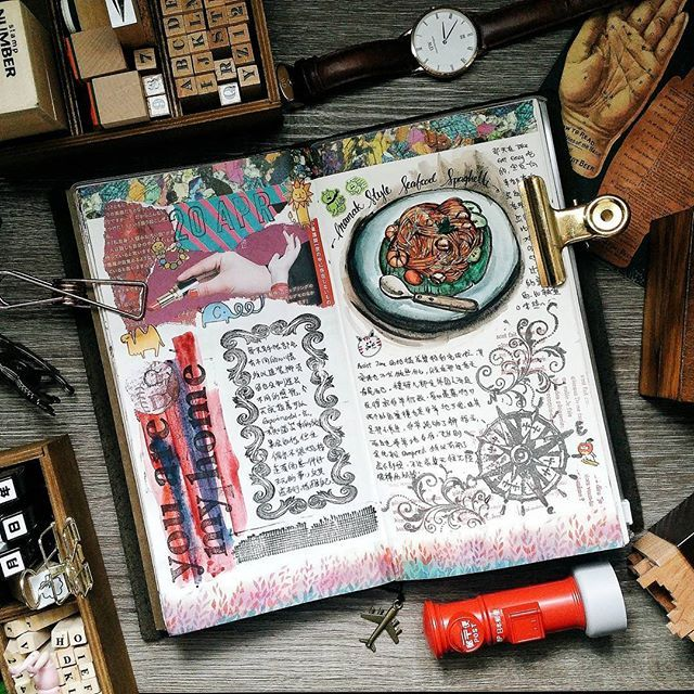 Be the energy you want to attract   #midori #journalwithme #lollalane #midoritravelersnotebook #travelersnotebook #foodie #artjournaling #artjournal #journal #plannergeek #planneraddictmalaysia #手帐 #旅人手帐 #文具 #文房具