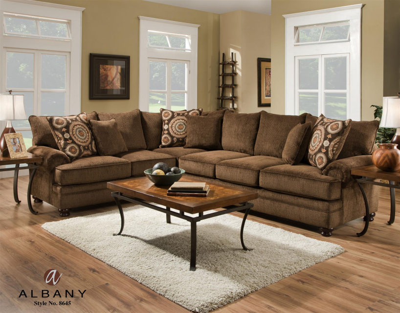 1560 The Contemporary Living Room Set Cocoa Brown Sofa Living Room Contemporary Living Room Sets Sectional Sofa With Chaise #richmond #tan #living #room #sectional