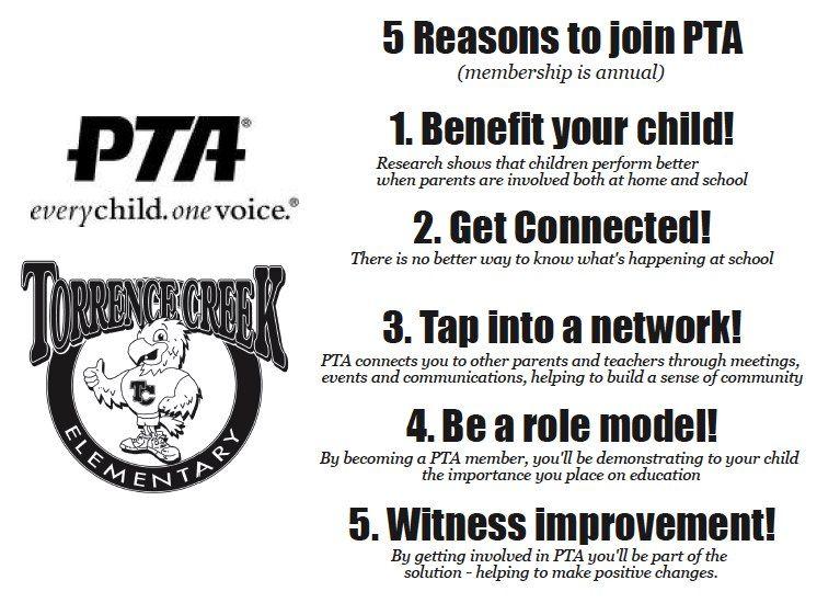 TCE PTA Annual Dues are $5 per adult  | PTO & box tops | Pto