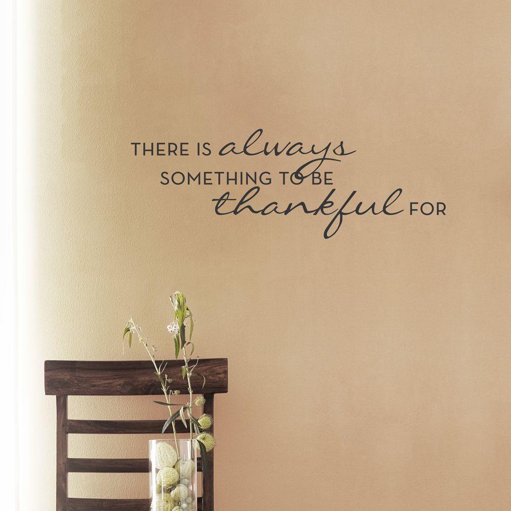 Always Thankful...Wall Art Decal | Wall art | Pinterest | Wall art ...