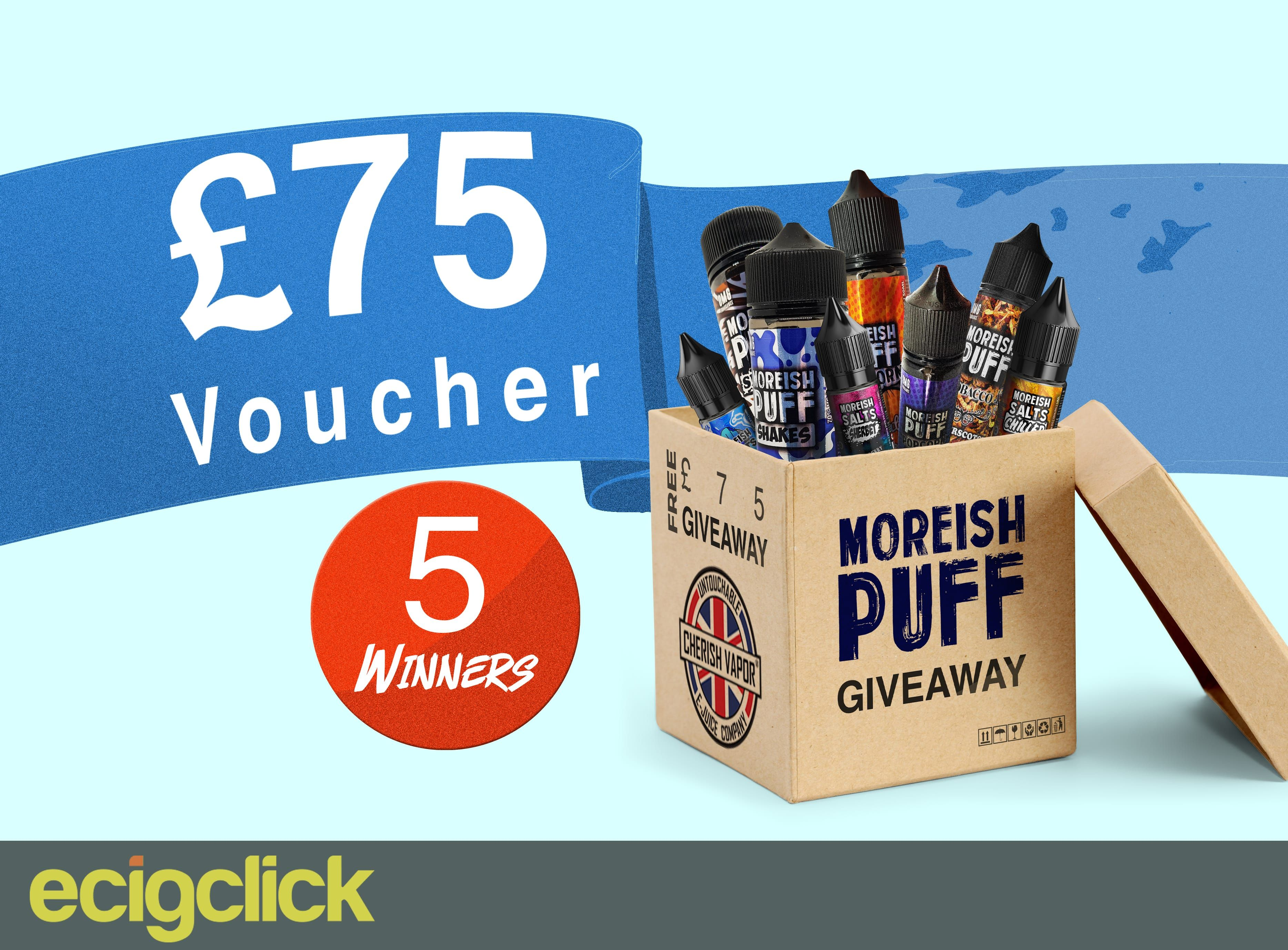 Moreish puff e juice giveaway giveaway vape competition