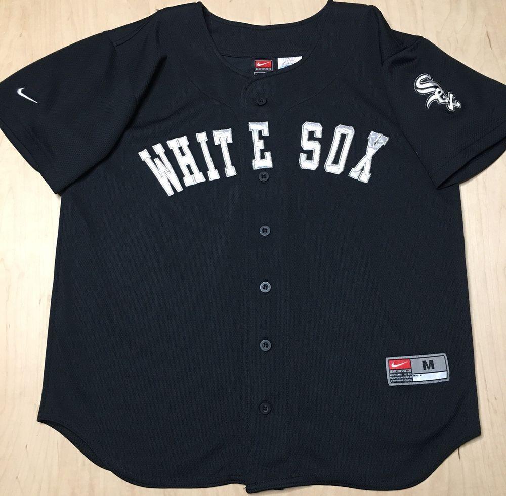 2ca1b902f ... inexpensive nike mlb chicago white sox jersey boys m 14 16 black baseball  jersey 13.95 end