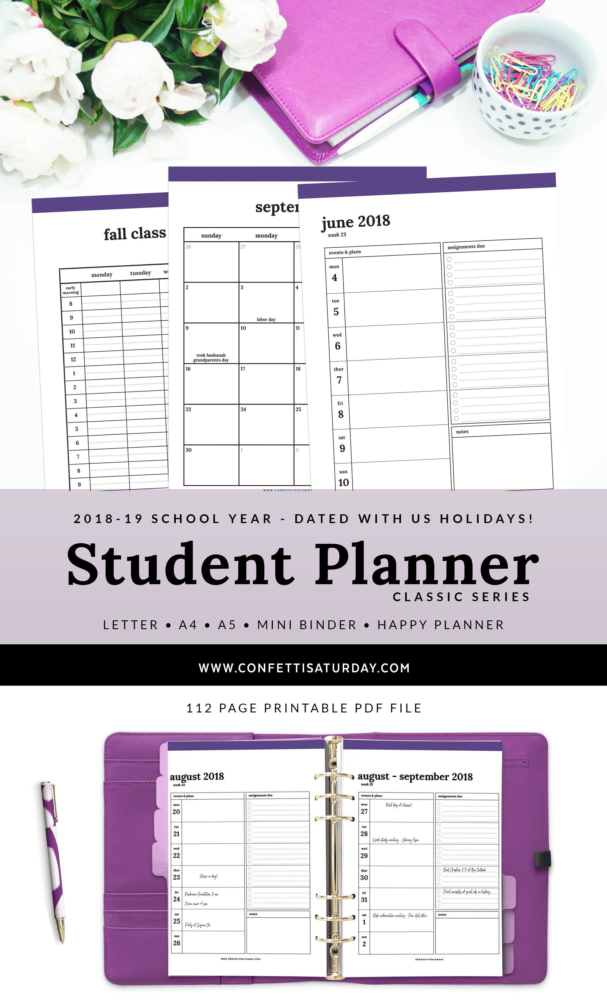 2018 19 student planner classic student planner planners and